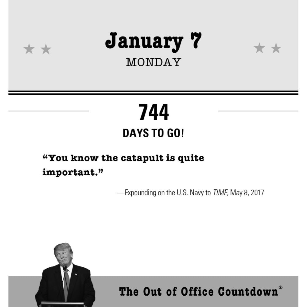 2019 Donald Trump Out of Office Countdown Boxed Calendar