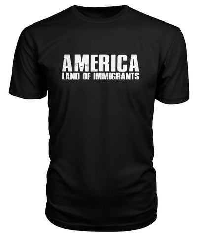 America Land Of Immigrants Premium Tee