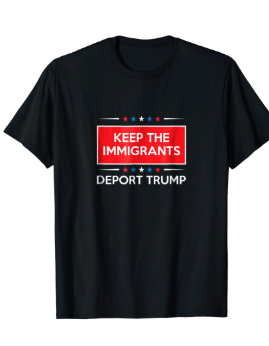 "Image of ""Keep The Immigrants, Deport Trump"" Shirt (Black)"