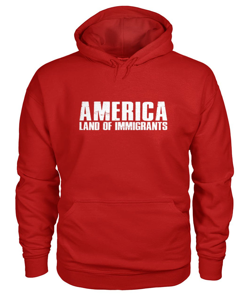 America Land Of Immigrants Hoodie