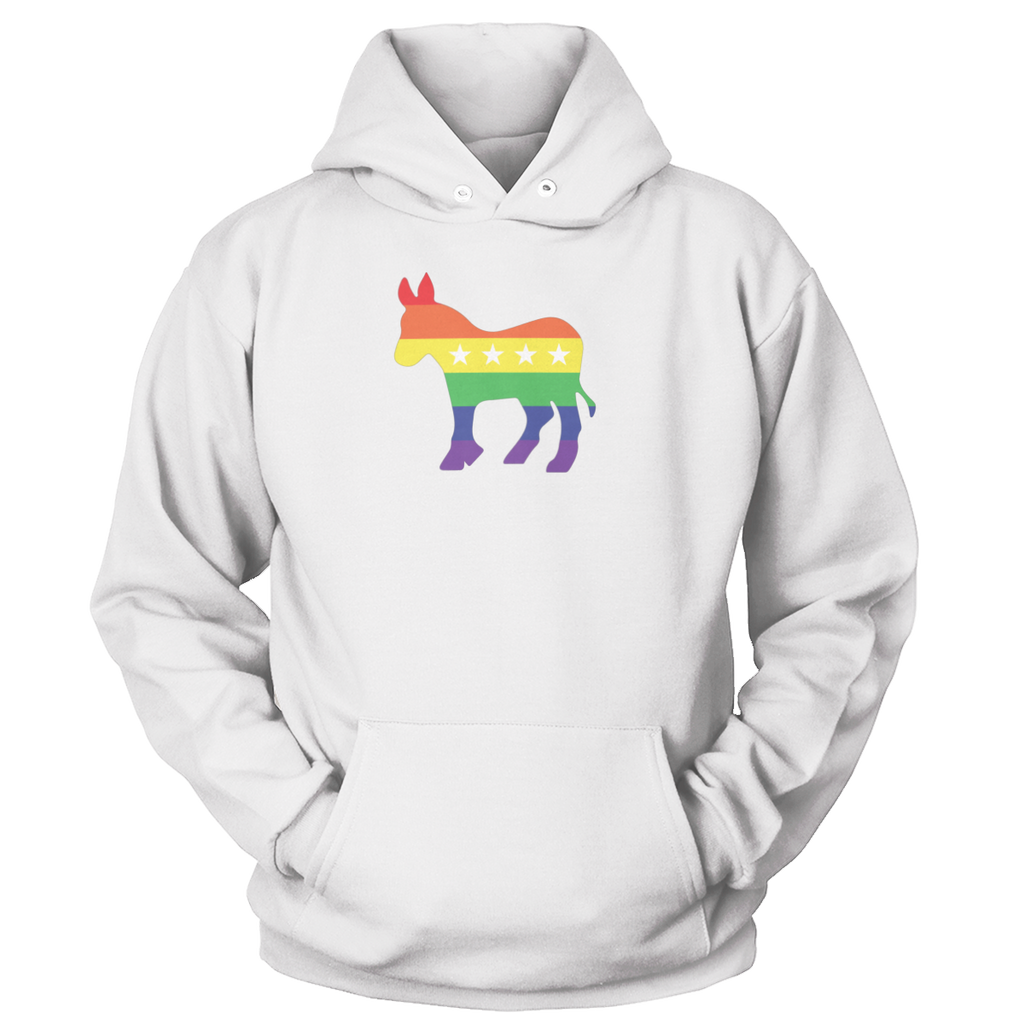 Rainbow Democrat Donkey Apparel