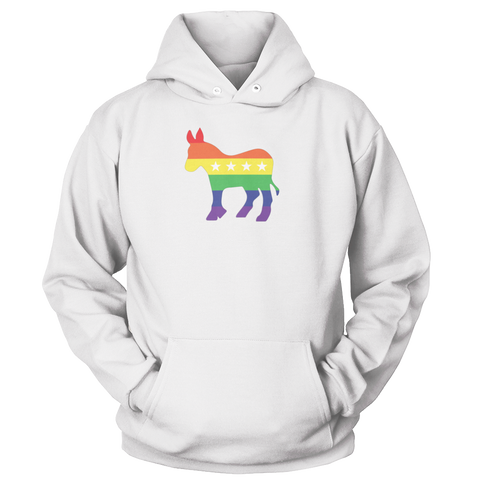 Image of Rainbow Democrat Donkey Apparel