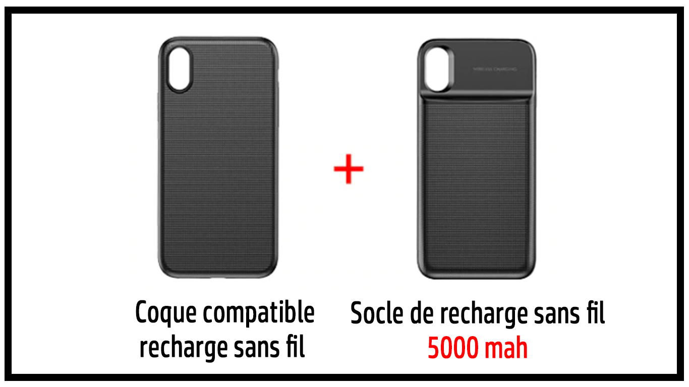 coque iphone xs pour recharge a induction