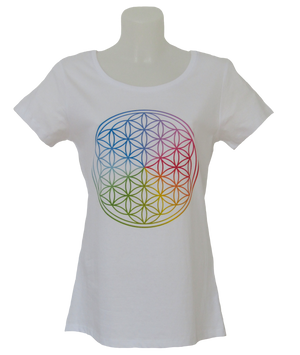 Flower of Life T-Shirt Ladies white