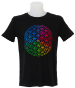 Flower of Life T-Shirt Man black