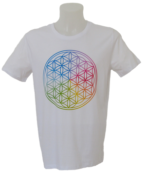 Flower of Life T-Shirt Man white