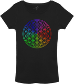 Flower of Life T-Shirt Ladies black
