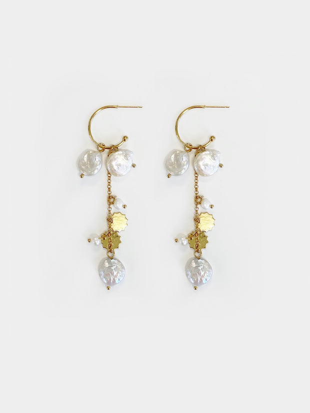 Flaunt Pearl Multi-way Drop Earrings | Gold