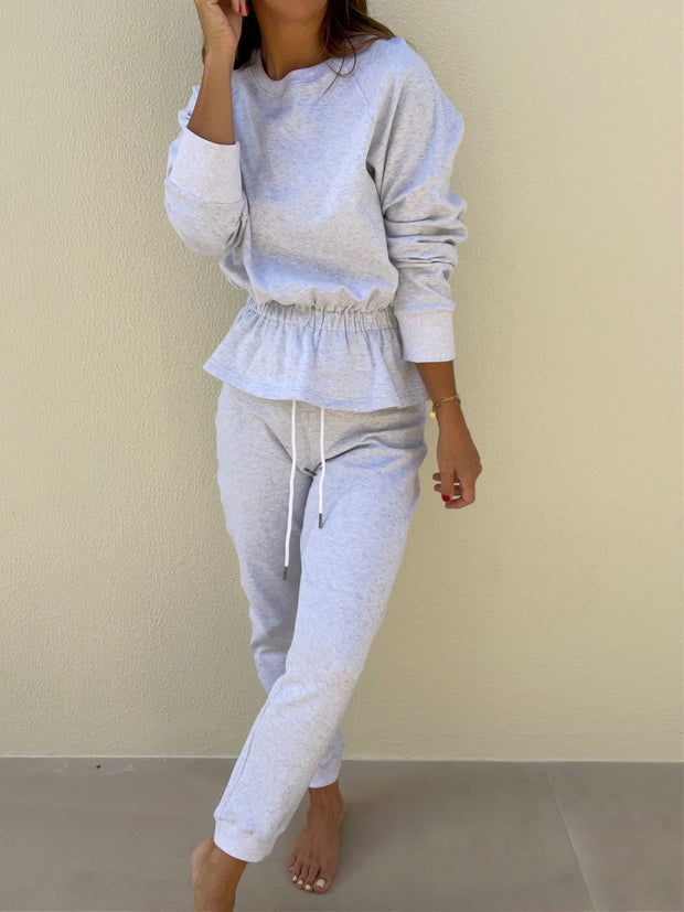 Lois French-Terry On Repeat Jogger | Grey Melange