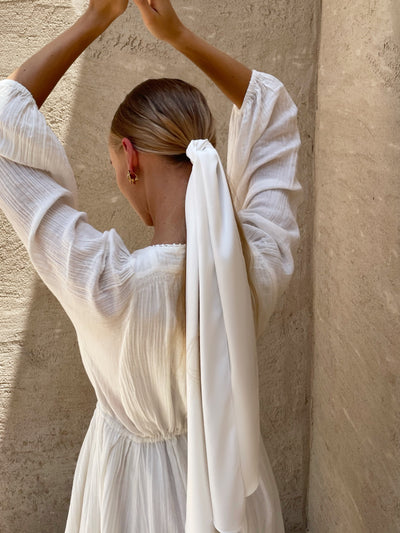 Willow Long Scarf | Ivory Silk