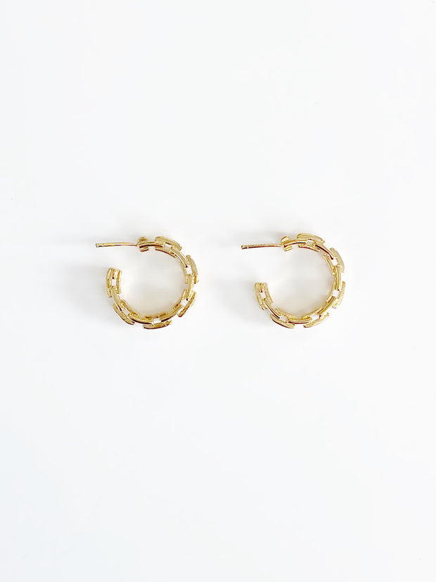 Seraphina Link Hoop Earring | Gold