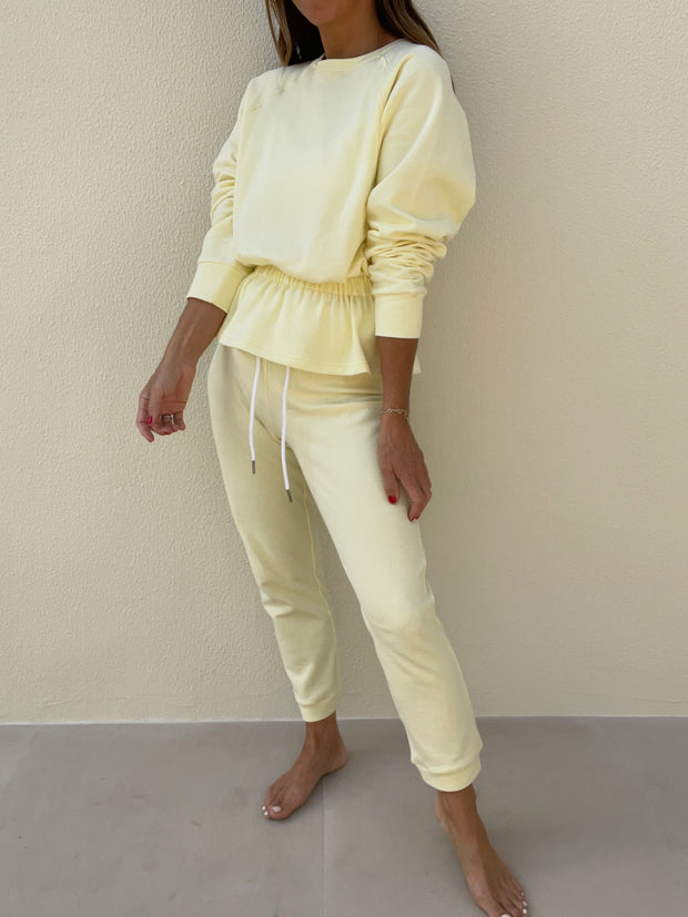 Lois French-Terry On Repeat Jogger | Lemon Sorbet