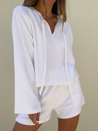Hamptons Terry Cool Pool Sweatshirt | Coconut White