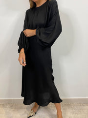 Gabrielle Blouson Edition Dress | Black