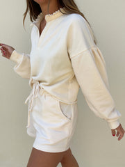 Gia Relaxed Resort Sweatshirt | Vanilla Cream