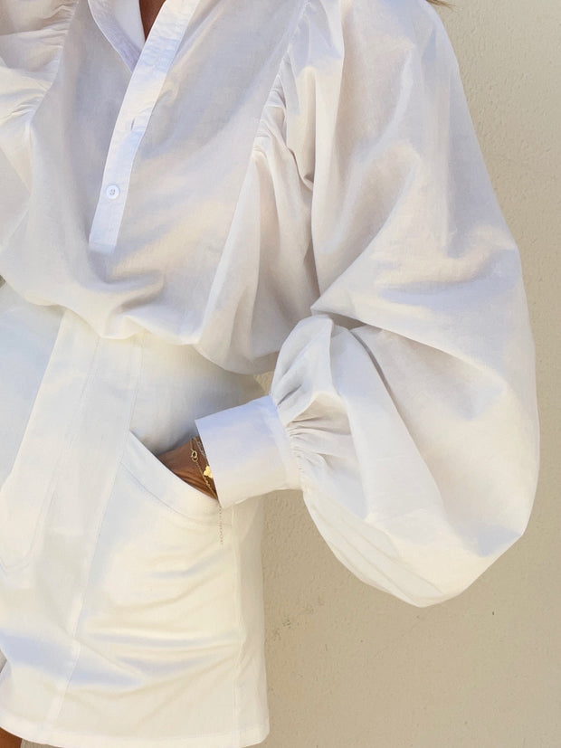 Eve Oversized Shirt | White