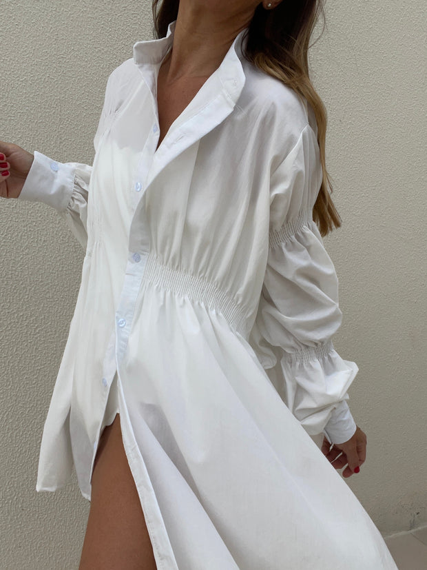 Felicity Oversized Brunch Shirt | Pure White