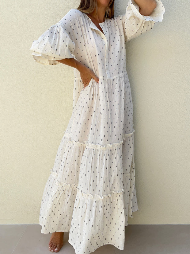 Harina Flowing Day Dress | Natural