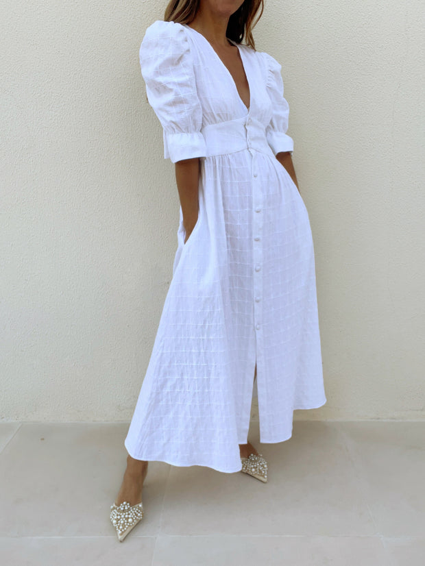 Chaya Day Dress | White