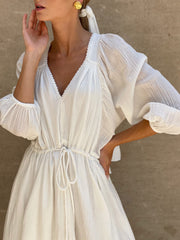 Serenity Day Dress | White