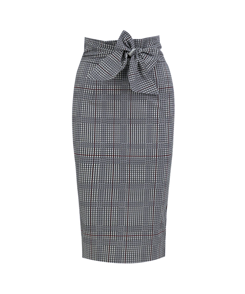 houndstood-offset pencil skirt