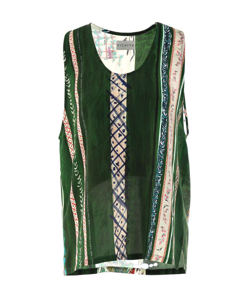 Green Matisse Tank Top