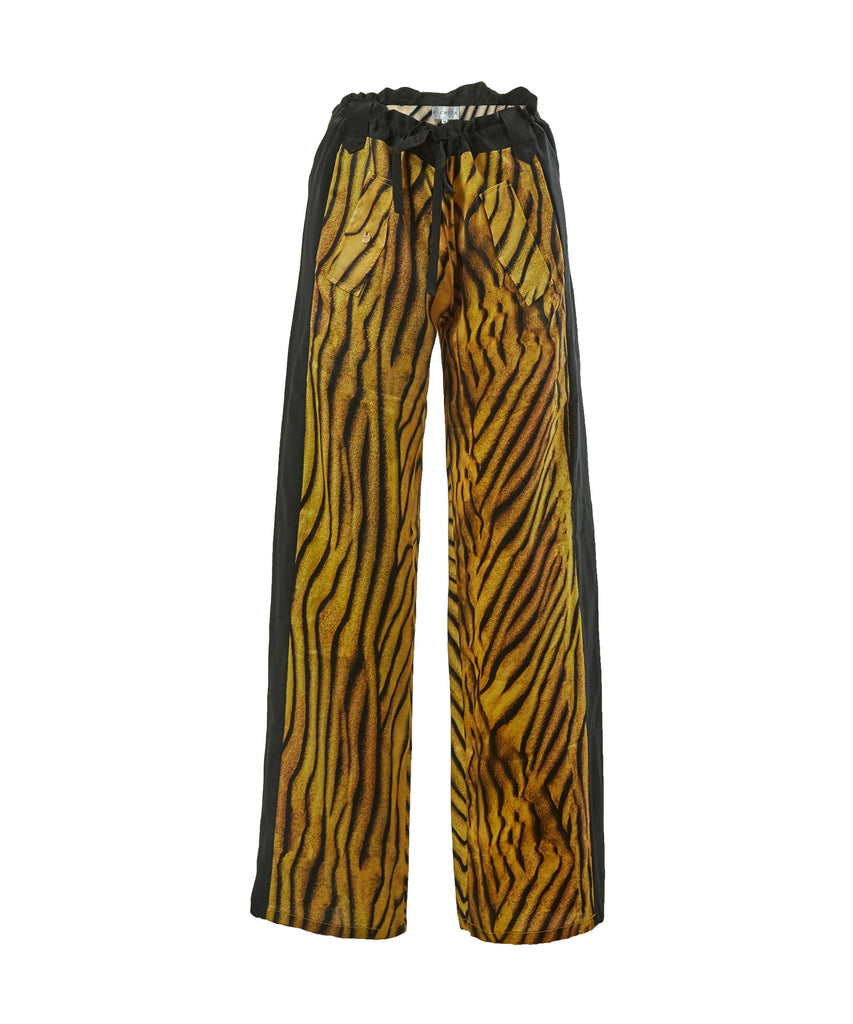 Rawr Ripple two tone silk pants