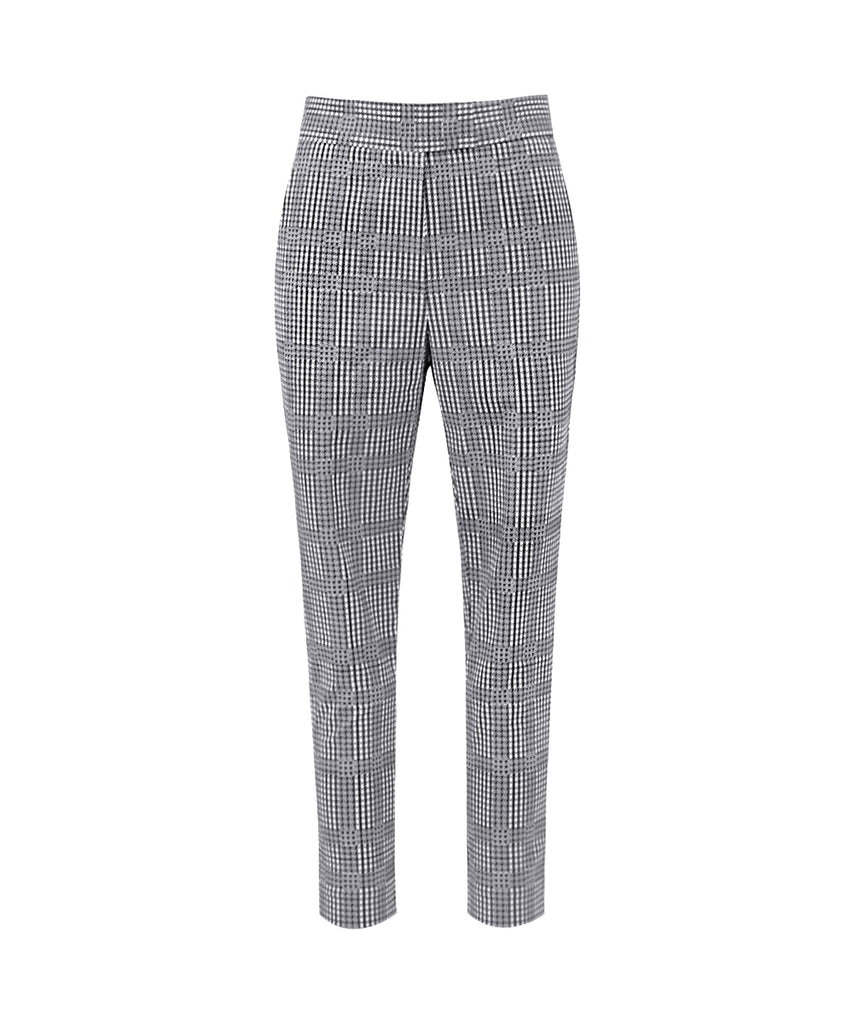 Broken Houndstooth above-ankle trousers