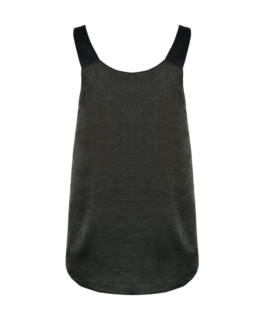 Army green V-neck camisole