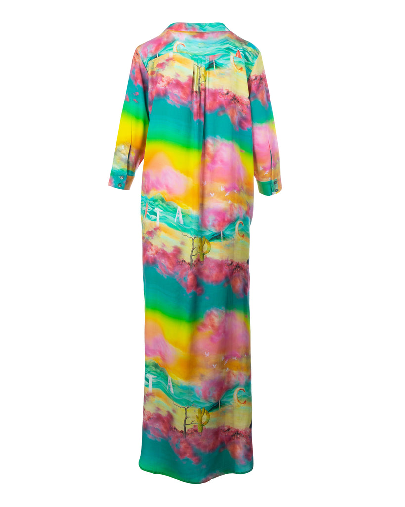 Long Sunset buttoned maxi dress