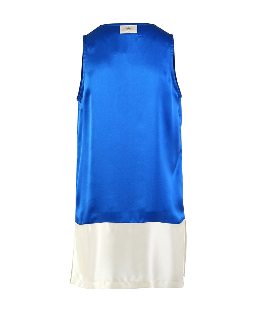 Bi- Color U Neck short dress