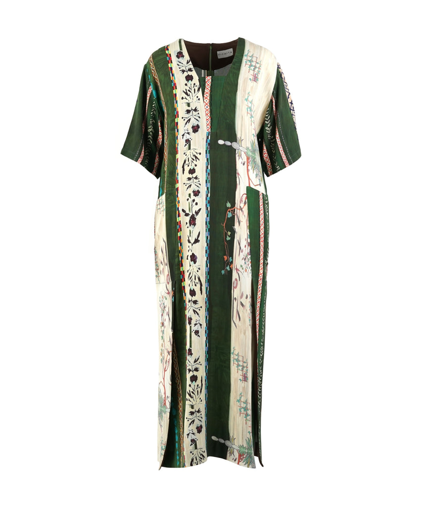 Green Matisse BOX NECK DRESS