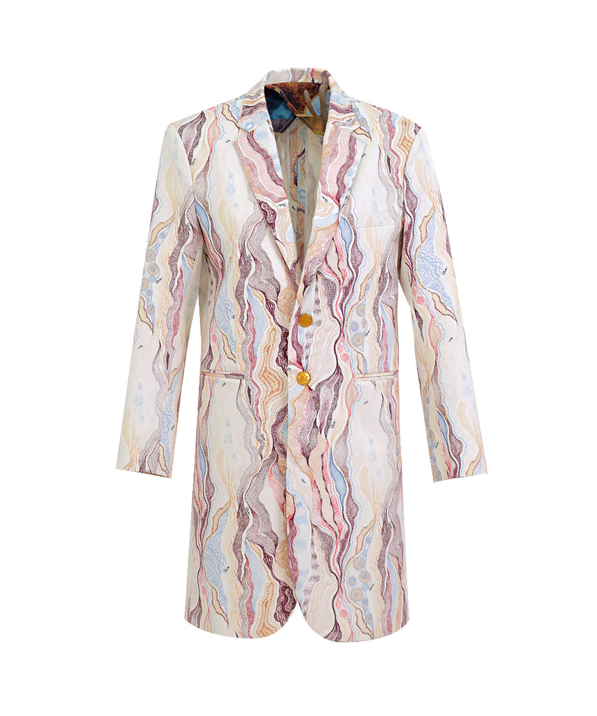 Marble Cream LONG JACKET