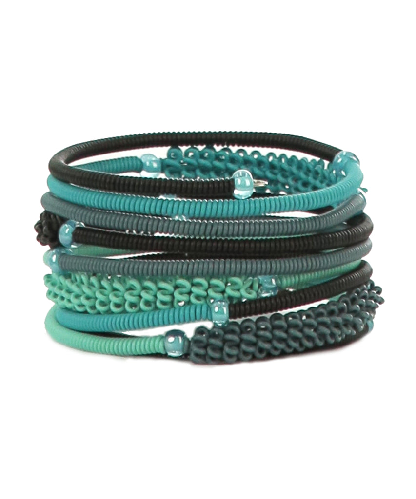 Turquoise Beaded Bangles