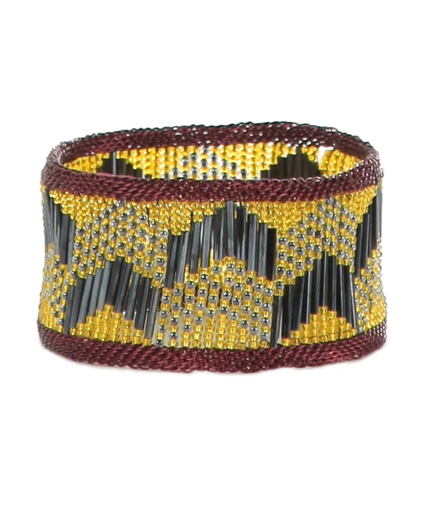 Roya Yellow Beaded bracelet