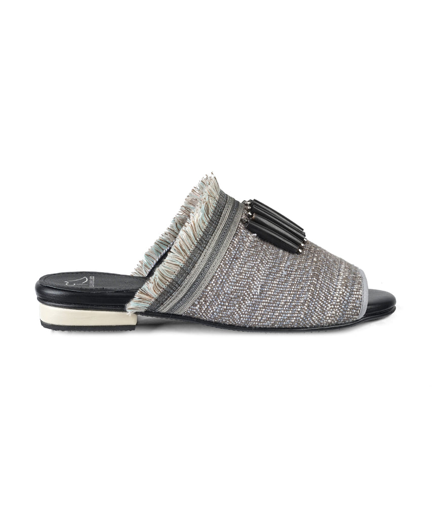 Light Grey Fringe Sandal