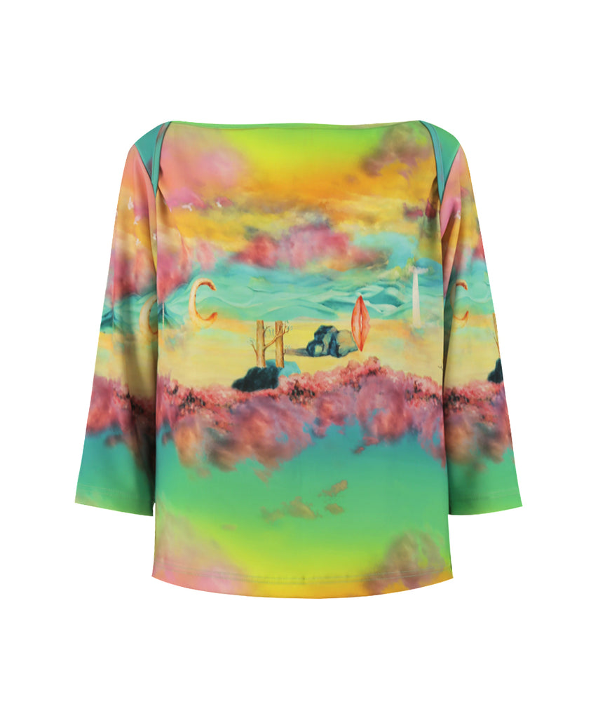 Long Sunset Boat neck long sleeves shirt