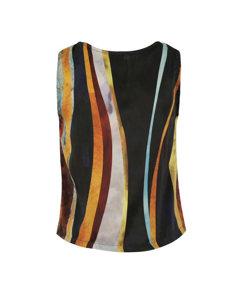 Golden Lining Crew Neck Tank