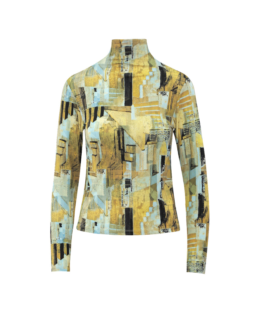 Mystical Golden Hour Long Sleeves Turtle Neck Shirt
