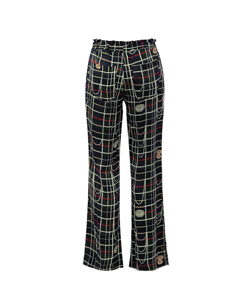 Green lover's eye SIGNATURE DRAWSTRING PANTS