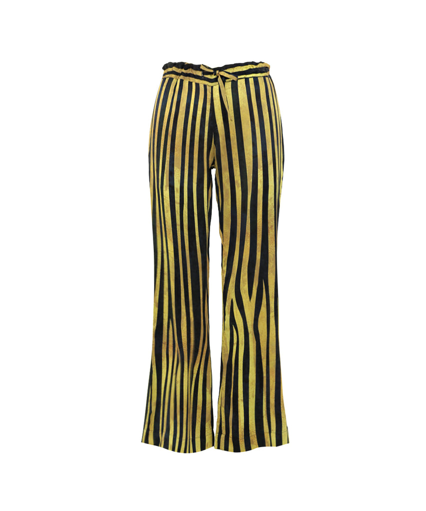 Strips Blue Green SIGNATURE DRAWSTRING PANTS