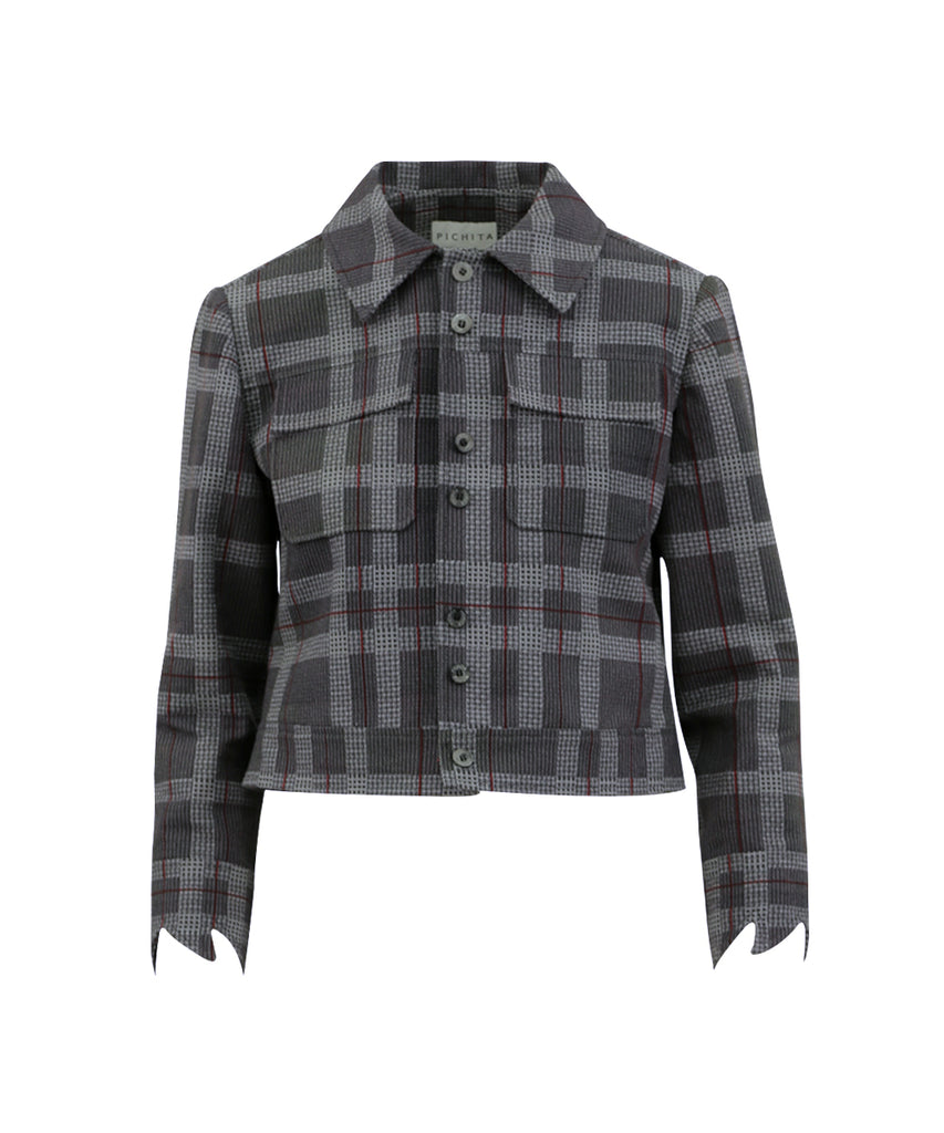 HOUNDSTOOTH TRUCKER JACKET