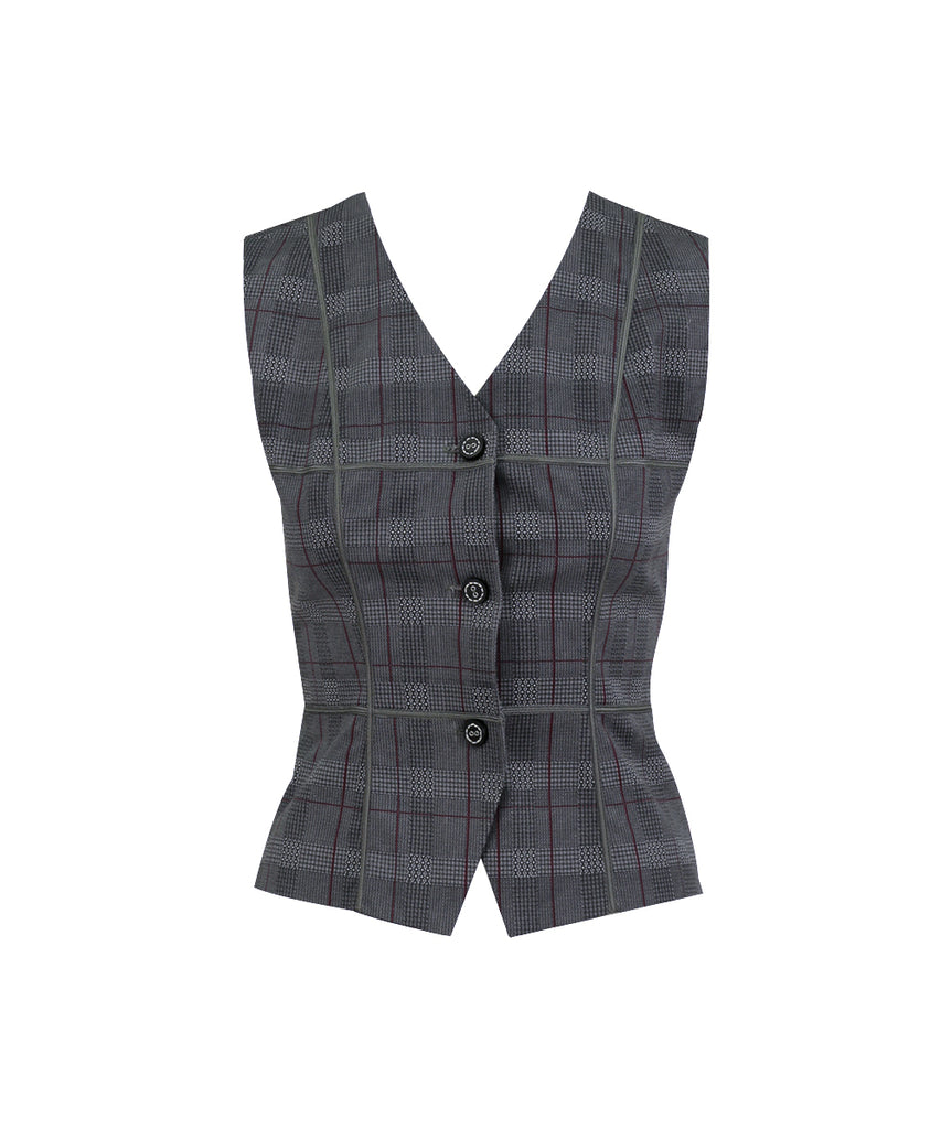 Houndstood- offset Sleeveless vest