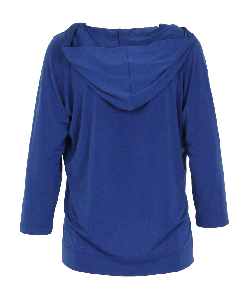 Royal Blue long-sleeved hooded top