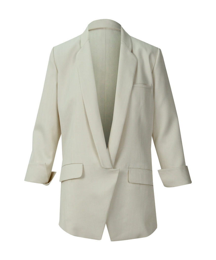 Beige suit folding sleeve