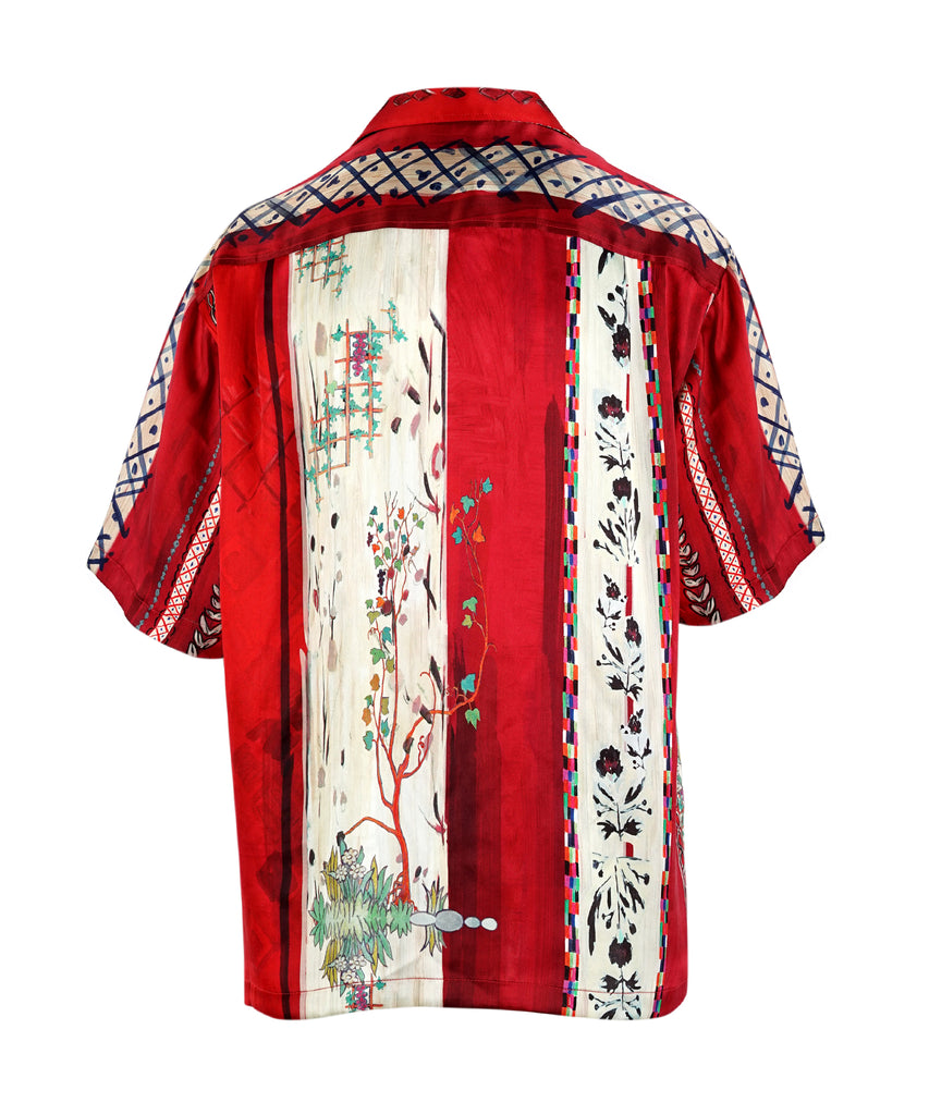Red Matisse Printed Silk Shirt