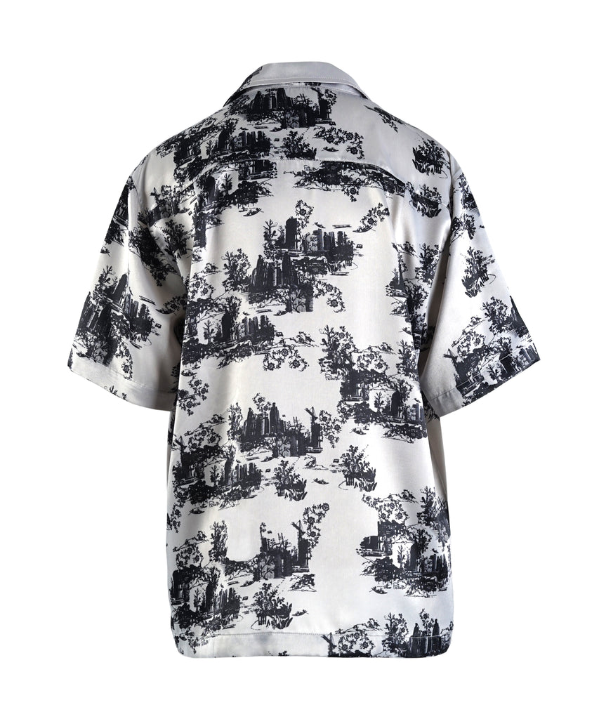 Grey River Mooban Short Sleeves Button-up Crepe Shirt