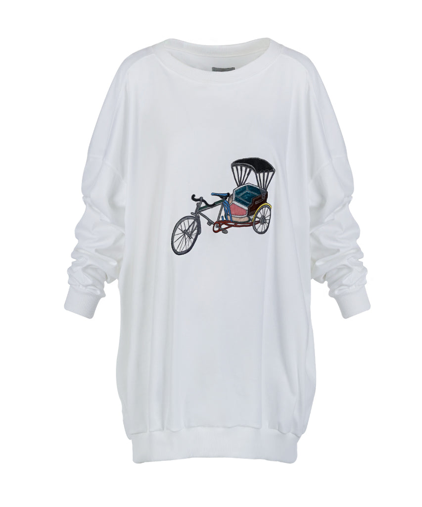 Oversize Bangkok Printed long Sleeve