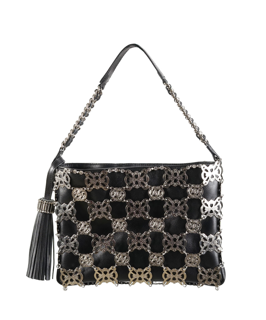 Metal Jardin Leather-chained handbag