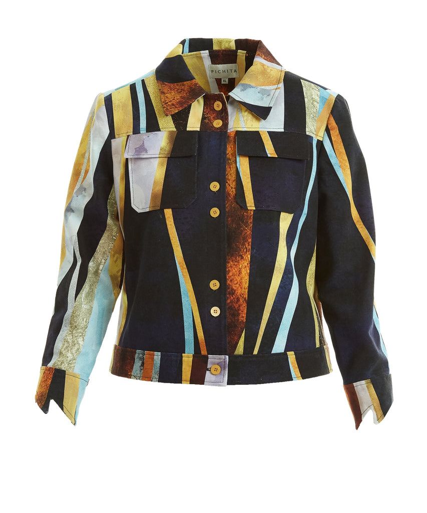 Golden Lining trucker Jacket